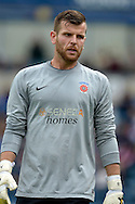 Goalkeeper Adam Bartlett of Hartlepool United looking on. Skybet football league two match, Wycombe Wanderers v Hartlepool Utd at Adams Park in High Wycombe, Bucks on Saturday 5th Sept 2015.<br /> pic by John Patrick Fletcher, Andrew Orchard sports photography.