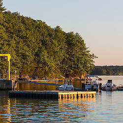 The dock at the Jackson Estuarine Lab on Great Bay at Adams Point in Durham, New Hampshire.