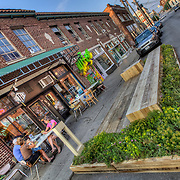 """""""Parklet"""" at 18th and Wyandotte in Crossroads District of Kansas CIty, Missouri."""