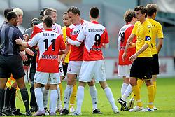 16-05-2010 VOETBAL: FC UTRECHT - RODA JC: UTRECHT<br /> FC Utrecht verslaat Roda in de finale van de Play-offs met 4-1 en gaat Europa in / Vreugde bij Utrecht met oa Tim Cornelisse, Ricky van Wolfswinkel en Dries Mertens<br /> ©2010-WWW.FOTOHOOGENDOORN.NL