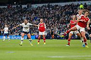 Kit Graham shoots at goal during the FA Women's Super League match between Tottenham Hotspur Women and Arsenal Women FC at Tottenham Hotspur Stadium, London, United Kingdom on 17 November 2019.