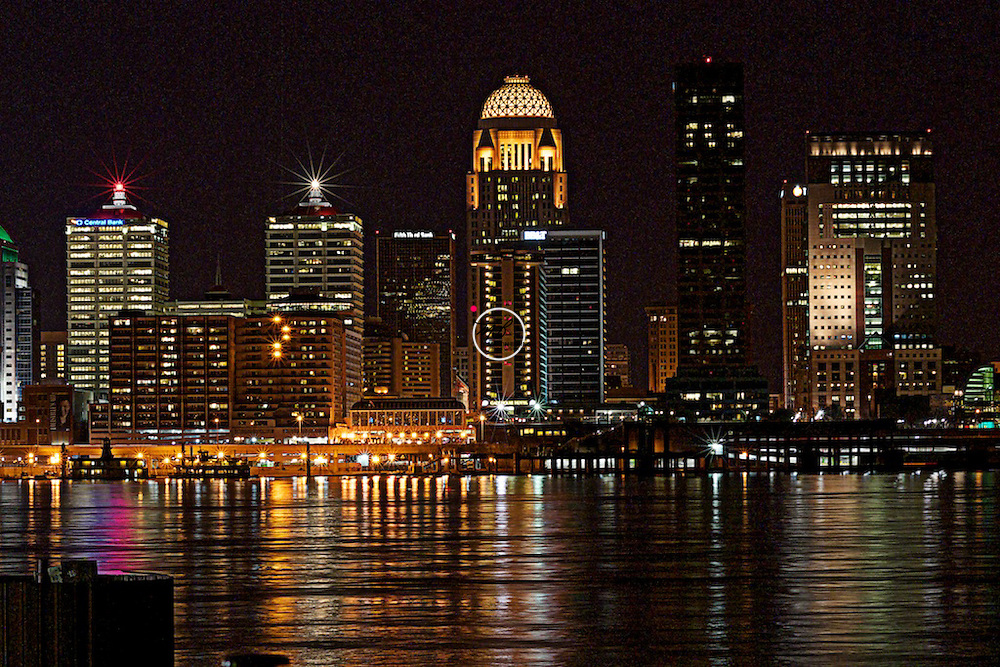 Louisville Night Scape on the Ohio River