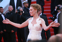 Actress Uma Thurman at the Palme d'Or  Closing Awards Ceremony red carpet at the 67th Cannes Film Festival France. Saturday 24th May 2014 in Cannes Film Festival, France.