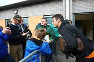 Wolverhampton Wanderers Leo Bonatini (33) with fans during the EFL Sky Bet Championship match between Burton Albion and Wolverhampton Wanderers at the Pirelli Stadium, Burton upon Trent, England on 30 September 2017. Photo by John Potts.