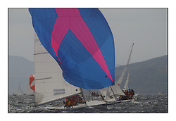 Yachting- The first days inshore racing  of the Bell Lawrie Scottish series 2002 at Tarbert Loch Fyne. Near perfect conditions saw over two hundred yachts compete. <br />Holographic (GBR1706L)<br />1720 class<br />Pics Marc Turner / PFM