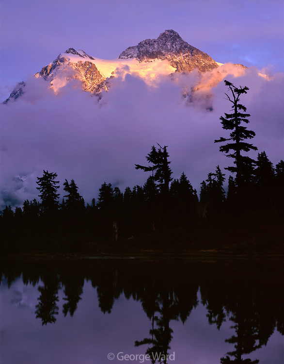 Mount Shuksan and Clearing Storm from Picture Lake, Mt. Baker-Snoqualmie National Forest, Washington