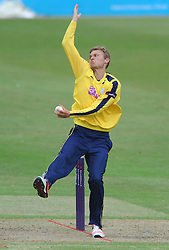 Danny Briggs of Hampshire  - Photo mandatory by-line: Dougie Allward/JMP - Mobile: 07966 386802 - 14/07/2015 - SPORT - Cricket - Cheltenham - Cheltenham College - Natwest T20 Blast