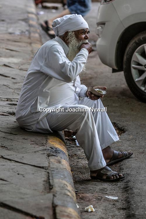 2019 09 26 Delhi India<br /> Porträtt av en gammal man<br /> <br /> <br /> ----<br /> FOTO : JOACHIM NYWALL KOD 0708840825_1<br /> COPYRIGHT JOACHIM NYWALL<br /> <br /> ***BETALBILD***<br /> Redovisas till <br /> NYWALL MEDIA AB<br /> Strandgatan 30<br /> 461 31 Trollhättan<br /> Prislista enl BLF , om inget annat avtalas.