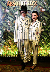 Joshua Kane and Jordan Ebbitt attending the Dita Von Teese and The Copper Coupe event presented by Absolut Elyx at the Box, London.