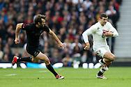 England's Jonny May makes the initial break for his try - QBE Autumn Internationals - England vs New Zealand - Twickenham Stadium - London - 08/11/2014 - Pic Charlie Forgham-Bailey/Sportimage
