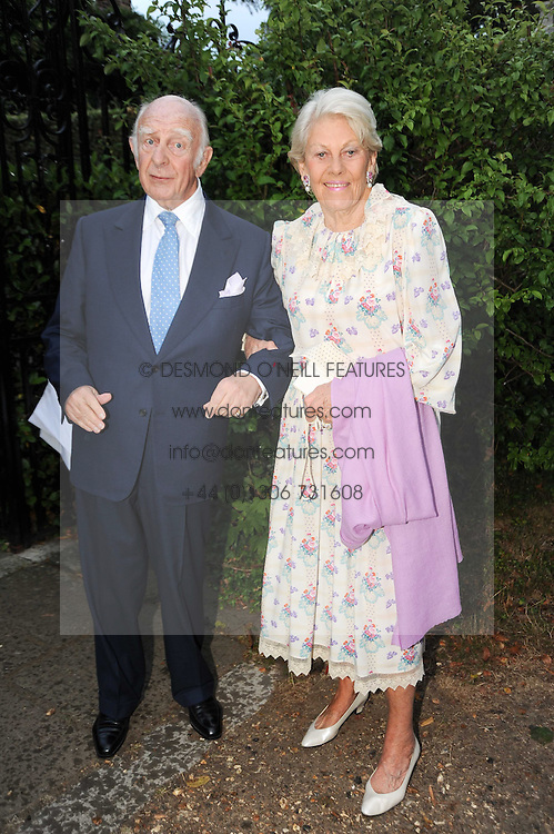 PRINCE & PRINCESS RUPERT LOWENSTIEN leaving a summer party hosted by Lady Annabel Goldsmith at her home Ormeley Lodge, Ham Gate, Richmond on 13th July 2010.