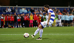 Queens Park Rangers Abdenasser El Khayati scores from the penalty spot to win the game 4-2 in the penalty shoot out after extra time.