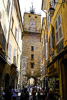 Aix or Aix-en-Provence is a city about 30 km north of Marseille, southern France. Founded in 123 BC by the Romans. Clock-tower erected in 1510.