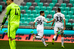 Rijad Kobiljar of NK Rudar Velenje and Milan Tucic of NK Rudar Velenje during football match between NK Olimpija Ljubljana and NK Rudar Velenje in 25rd Round of Prva liga Telekom Slovenije 2018/19, on April 7th, 2019 in Stadium Stozice, Slovenia Photo by Matic Ritonja / Sportida