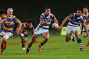 Auckland player Salesi Rayasi on the charge against Bay of Plenty during the Mitre 10 Cup match played at Rotorua International Stadium in Rotorua on Friday 2nd October 2020.<br /> Copyright photo: Alan Gibson / www.photosport.nz