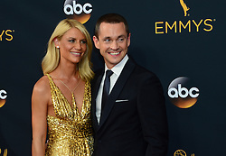 September 18, 2016 - Los Angeles, California, United States - Claire Danes and Hugh Dancy arrive at the 68th Annual Emmy Awards at the Microsoft Theater in Los Angeles, California on Sunday, September 18, 2016. (Credit Image: © Michael Owen Baker/Los Angeles Daily News via ZUMA Wire)