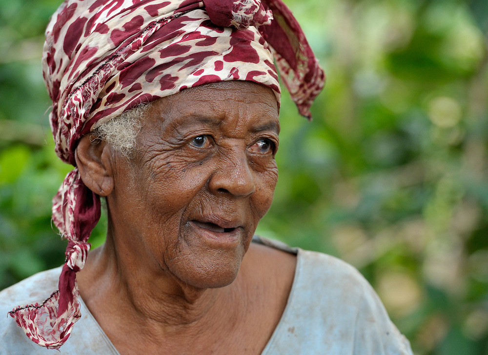 A woman in Mizak, a small village in the south of Haiti.