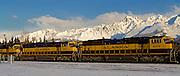 Alaska. Alaska Railroad winter panorama scenic, Seward.