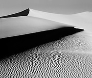 Sand ripples and dunes at stovepipe wells in Death Valley National Park, California, USA
