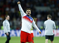July 3, 2018 - Moscow, Russia - Kyle Walker of England celebrates the victory after the penalty shootout of the 2018 FIFA World Cup Russia Round of 16 match between Colombia and England at Spartak Stadium on July 3, 2018 in Moscow, Russia. (Credit Image: © Matteo Ciambelli/NurPhoto via ZUMA Press)