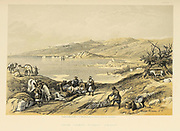 Sidon, Lebanon from The Holy Land : Syria, Idumea, Arabia, Egypt & Nubia by Roberts, David, (1796-1864) Engraved by Louis Haghe. Volume 2. Book Published in 1855 by D. Appleton & Co., 346 & 348 Broadway in New York.