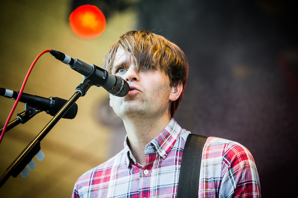 The  American alternative rock band DEATH CAB FOR CUTIE live at Open Source Festival 2015 at Grafenberger Galopprennbahn, Duesseldorf, 2015-06-27. The band comprises Ben Gibbard (vocals, guitar, piano), Nick Harmer (bass) and Jason McGerr (drums).
