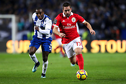 December 1, 2017 - Porto, Porto, Portugal - Benfica's Serbian forward Andrija Zivkovic (R) in action with Porto's Portuguese defender Ricardo Pereira (L) during the Premier League 2016/17 match between FC Porto and SL Benfica, at Dragao Stadium in Porto on December 1, 2017. (Credit Image: © Dpi/NurPhoto via ZUMA Press)