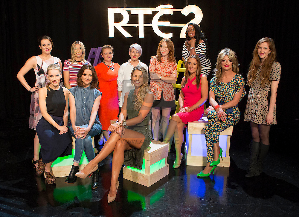 Repro Free: 08/09/2015 <br /> Pictured at the RTÉ2 new season launch (front) Carla O'Brien, Jennifer Maguire, Vogue williams, Jules Coll, Panti Bliss and Susan Loughnane, (back) Hilary Rose, Blaithnaid Treacy, Louise McSharry, Sinead Kennedy, Angela Scanlon and Kelly McDonagh. Picture Andres Poveda