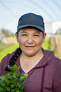 Virgina, owner of Eloise Organic Farm in Albany, Oregon