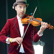 GAA and Irish in Britain performs at the St Patrick's Day festival and Parade in London set to go green for another world-class 2016 on 13th March 2016 in Trafalgar Square, London, England,UK. Photo by © 2016