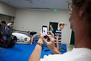 De organisator van de recordraces maakt een foto van de VeloX in het Civic Center van Battle Mountain. In september wil het Human Power Team Delft en Amsterdam, dat bestaat uit studenten van de TU Delft en de VU Amsterdam, tijdens de World Human Powered Speed Challenge in Nevada een poging doen het wereldrecord snelfietsen voor vrouwen te verbreken met de VeloX 7, een gestroomlijnde ligfiets. Het record is met 121,44 km/h sinds 2009 in handen van de Francaise Barbara Buatois. De Canadees Todd Reichert is de snelste man met 144,17 km/h sinds 2016.<br /><br />With the VeloX 7, a special recumbent bike, the Human Power Team Delft and Amsterdam, consisting of students of the TU Delft and the VU Amsterdam, also wants to set a new woman's world record cycling in September at the World Human Powered Speed Challenge in Nevada. The current speed record is 121,44 km/h, set in 2009 by Barbara Buatois. The fastest man is Todd Reichert with 144,17 km/h.