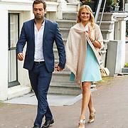 NLD/Amsterdam/20150620 - Huwelijk Kimberly Klaver en Bas Schothorst, Stepahnie Klaver en partner