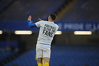 Football - 2020 / 2021 Premier League - Chelsea vs Brighton & Hove Albion - Stamford Bridge<br /> <br /> Brighton players wear T'Shirts in the warm up, saying 'Football is for fans'<br /> <br /> Credit : COLORSPORT/ANDREW COWIE