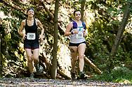 Rosendale, New York - Runners in the 13.1-mile race near the finish line of fhe Shawangunk Ridge Trail Run/Hike on Sept. 16, 2017.