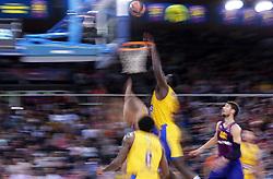 November 1, 2018 - Barcelona, Catalonia, Spain - match between FC Barcelona and Maccabi Tel Aviv, corresponding to the week 5 of the Euroleague, played at the Palau Blaugrana, on 01 November 2018, in Barcelona, Spain. (Credit Image: © Joan Valls/NurPhoto via ZUMA Press)
