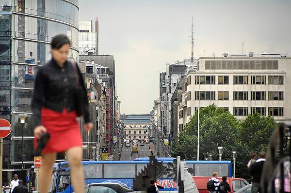 Belgie, Brussel, 28-7-2011Gebouwen van het Europees parlement in de wetstraat.Foto: Flip Franssen/Hollandse Hoogte