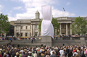 Unveiling by Rt. hon Chris Smith of Rachel Whiteread's sculpture for the fourth plinth in Trafalgar Square. © Copyright Photograph by Dafydd Jones 66 Stockwell Park Rd. London SW9 0DA Tel 020 7733 0108 www.dafjones.com
