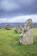 Stones of Castlerigg Stone Circle near Keswick in the Lake District, Cumbria, England