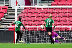 Sophie Baggaley of Bristol City saves a penalty from Victoria Williams of Brighton and Hove Albion Women - Mandatory by-line: Ryan Hiscott/JMP - 07/09/2019 - FOOTBALL - Ashton Gate - Bristol, England - Bristol City Women v Brighton and Hove Albion Women - FA Women's Super League