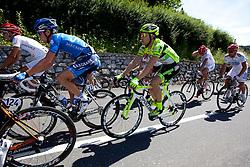 CHRISTENSEN Mads of Saxo Bank and ANDRIATO Rafael of Farnese Vini during 1st Stage (164 km) at 19th Tour de Slovenie 2012, on June 14, 2012, in Celje, Slovenia. (Photo by Matic Klansek Velej / Sportida)