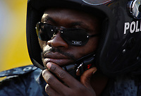 Photo: Steve Bond/Richard Lane Photography.<br />Guinea v Morocco. Africa Cup of Nations. 24/01/2008. the Ghana police relax in new shades