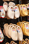 Wooden clogs at tourist shop in Amsterdam.