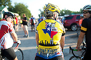 Fort Worth's mayor Betsy Price visits with riders before beginning for the first day of the 2014 Tour de Fort Worth, an annual event hosted by Mayor Price to promote cycling within the city while also giving her a chance to connect with her constituents on July 5, 2014 in Fort Worth, Texas. (Cooper Neill for The New York Times)