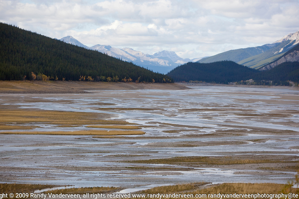 Photo Randy Vanderveen.Jasper AB.02/10/09.Looking back towards the northwest from the south side of Medicine Lake in Jasper National Park.
