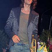 NLD/Huizen/20110916 - South Sea Jazz 2011, optreden Hans en Candy Dulfer, trompetist Rob van de Wouw