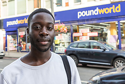 ***CHECK BEFORE USE*** Lance photographed during an exercise where a 17-year-old visited numerous big brand shops on Streatham High Road in an attempt to purchase a knife to illustrate the extent of knife control and age checking in London stores. Streatham, London, August 30 2019.