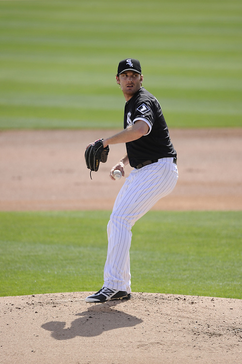 GLENDALE, AZ - MARCH 05:  Philip Humber #41 of the Chicago White Sox pitches against the Los Angeles Dodgers on March 5, 2012 at The Ballpark at Camelback Ranch in Glendale, Arizona. The Dodgers defeated the White Sox 6-4.  (Photo by Ron Vesely)  Subject:  Phil Humber
