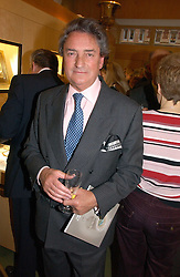 WILLIAM TALLON at an exhibition of fine jewellery at Wartski's, Grafton Street, London on 15th May 2006.<br />