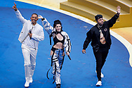 General view of the show with Era Istrefi, Will Smith and Nicky Jam during the closing ceremony before the 2018 FIFA World Cup Russia, final football match between France and Croatia on July 15, 2018 at Luzhniki Stadium in Moscow, Russia - Photo Tarso Sarraf / FramePhoto / ProSportsImages / DPPI
