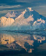 Spectacular shapes and light of icebergs in Disko Bay.
